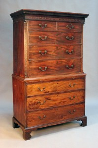 A George III mahogany chest-on-chest