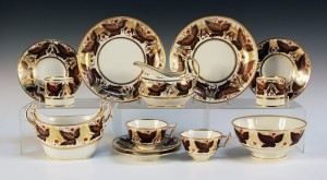 A Flight Barr & Barr Worcester porcelain part tea and coffee service