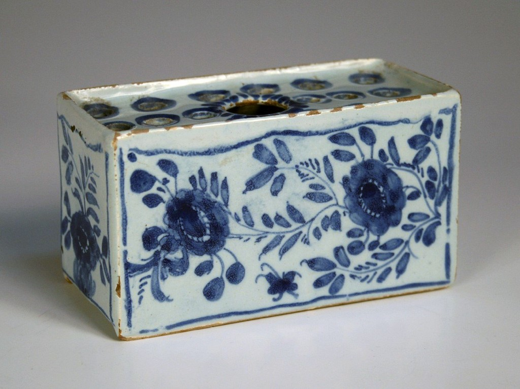 An English delft flower brick