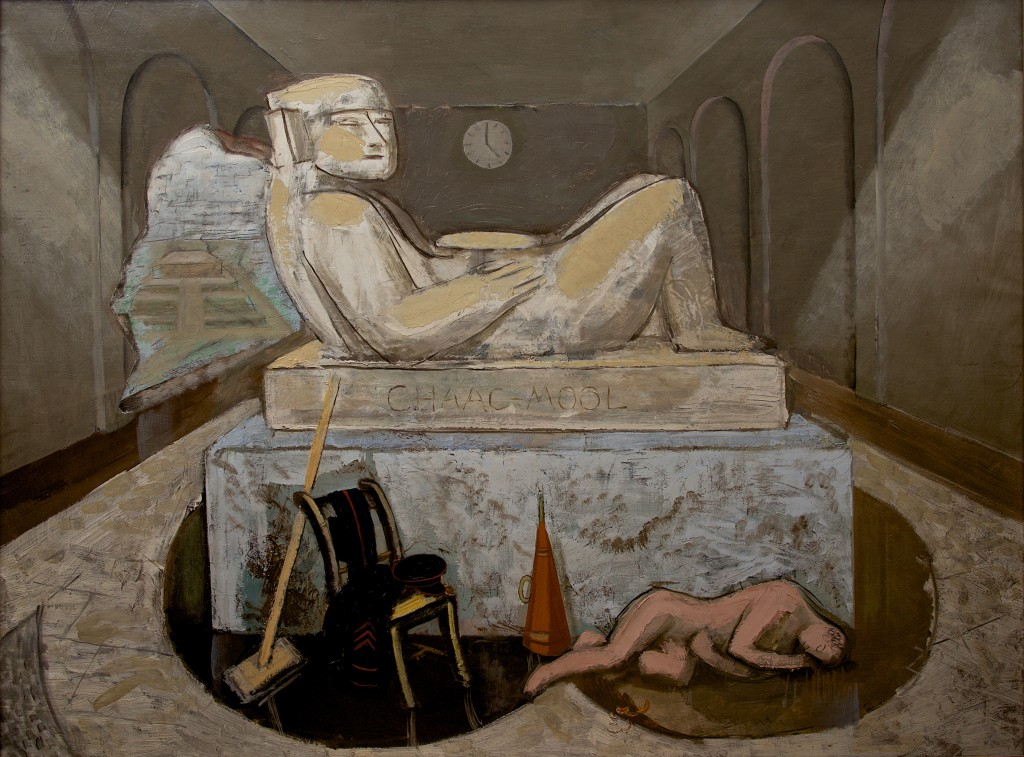 Leon Underwood, Chac-Mool's Destiny, 1929, oil on canvas © The Estate of the Artist and The Redfern Gallery, London