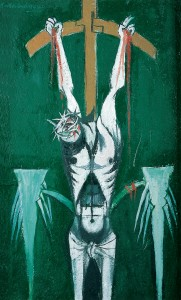 Graham Sutherland – 'The Crucifixion', 1947, oil on board, Pallant House Gallery (Hussey Bequest, Chichester District Council, 1985)