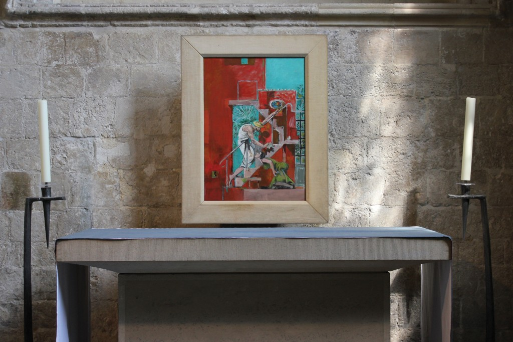 The St Mary Magdalene Chapel, Chichester Cathedral, with Graham Sutherland's 'Noli me tangere'.