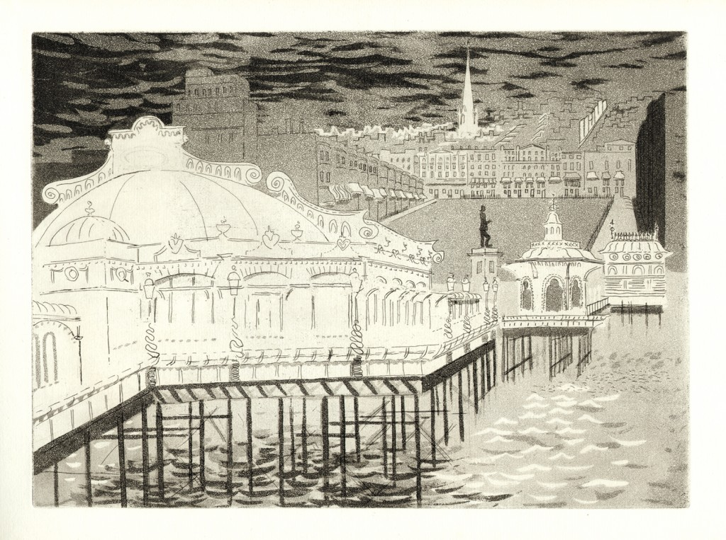 John Piper – 'Regency Square from the West Pier', plate III, circa 1939