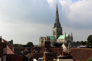 A view of the ancient Cathedral city of Chichester