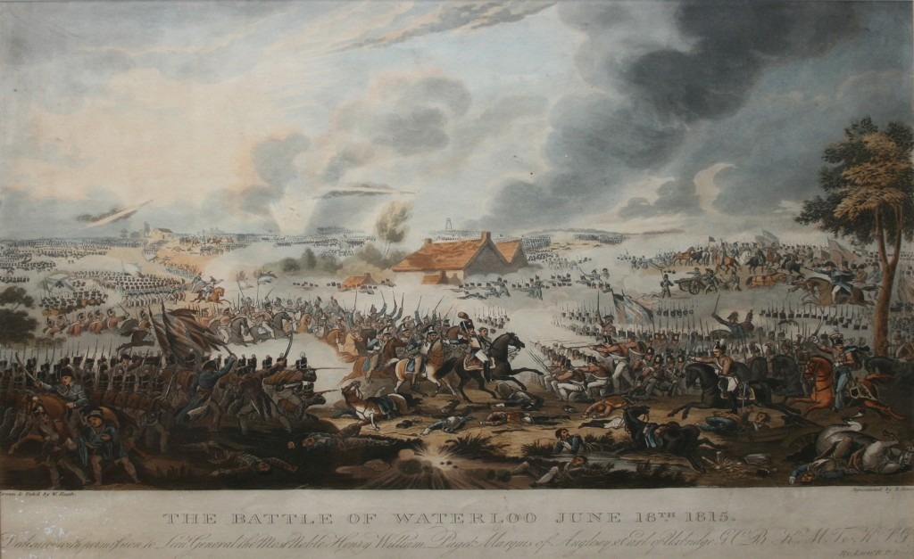 After W. Heath - 'The Battle of Waterloo June 18th 1815', colour aquatint
