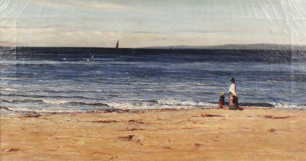 Joseph Henderson - 'Ayrshire Coast', oil on canvas