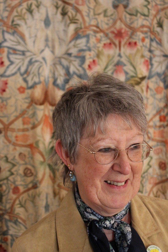 Standen volunteer and curator of 'Medieval to Morris', Sally Roberson