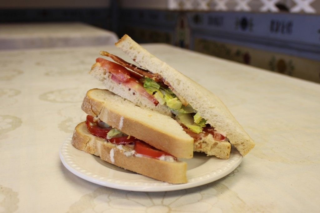 BLT using Nutbourne tomatoes