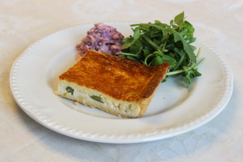 Homemade quiche at Toovey's