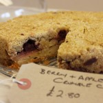 Apple and Summer Berry Crumble Cake