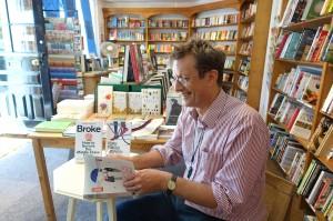 Author, David Boyle, preparing for Steyning Bookshop launch