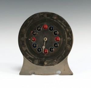 A Liberty & Co Tudric timepiece, designed by Archibald Knox
