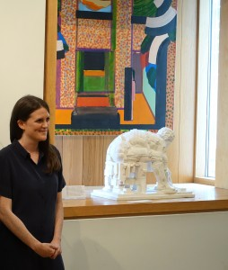 Pallant House exhibition curator, Katy Norris, at the opening of 'Sickert in Dieppe'
