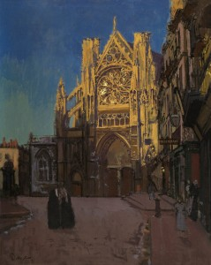 Walter Sickert, 'The Façade of St Jacques, Dieppe', 1902, oil on canvas, Private collection, image courtesy of The Fine Art Society