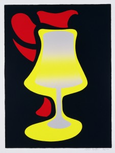 Patrick Caulfield, 'Red Jug and Lamp'