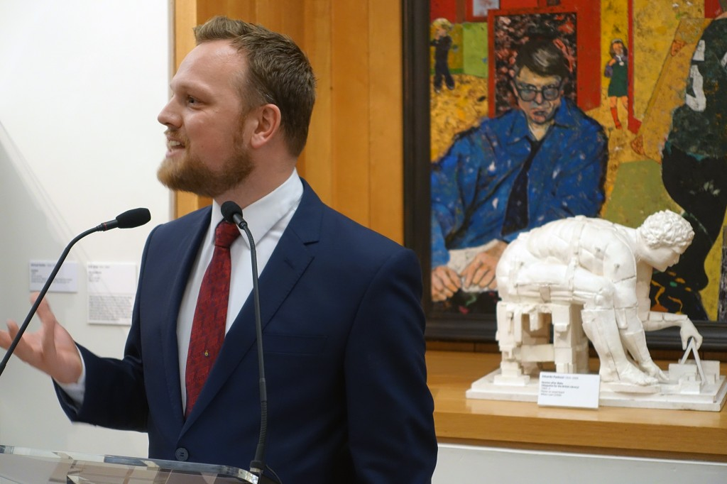 Simon Martin opens David Jones exhibition at Pallant House Gallery, Chichester