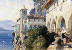 'Catalina, Lake Maggiore' by Myles Birket Foster