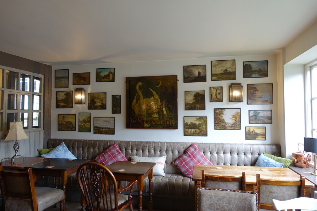 The Swan Inn's famous art re-hung