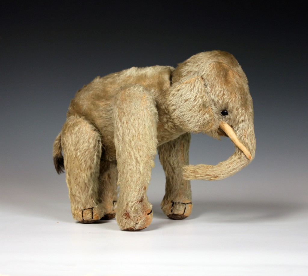 An early 20th Century Steiff mohair mechanical elephant