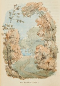 A rare depiction of the lost garden at Hills Place, Horsham