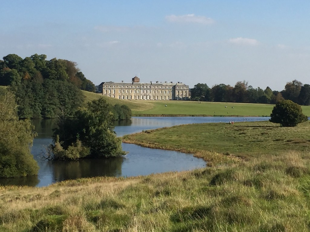 Petworth House set in Capability Brown's landscape garden