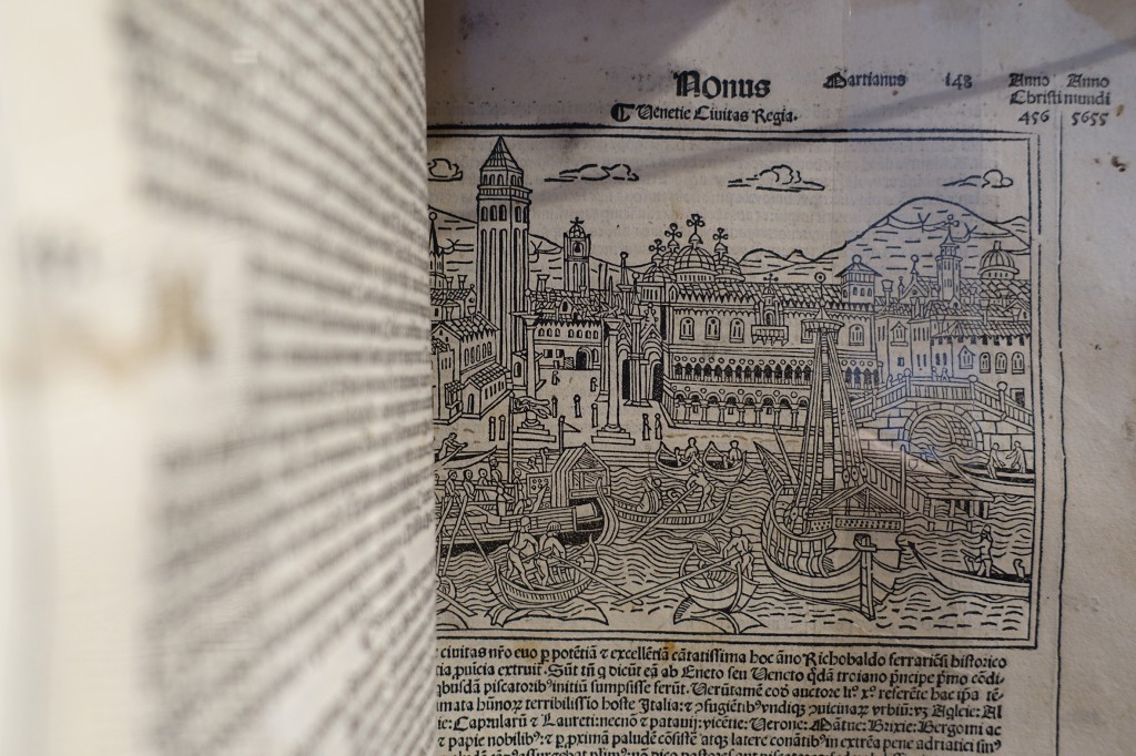 An incunabula, 'Chronicle of the World', printed in 1493
