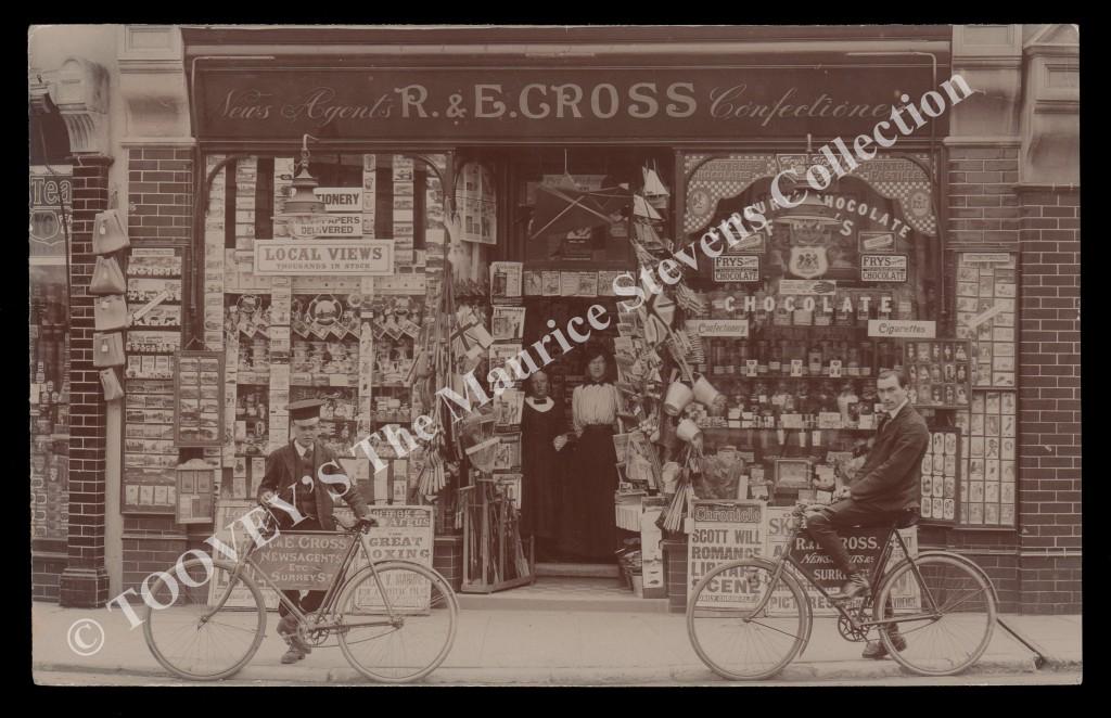 Lot 3120 R & E Cross Newsagents and Confectioners, Littlehampton, circa 1904