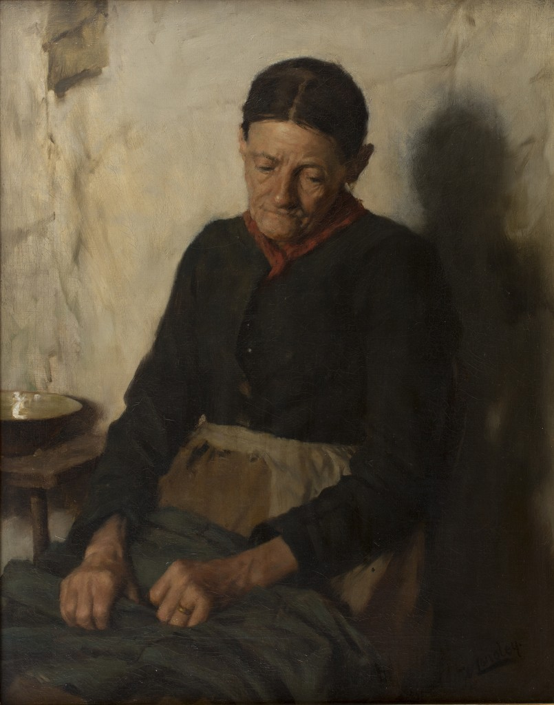 Walter Langley's oil painting, 'A Quiet Time'