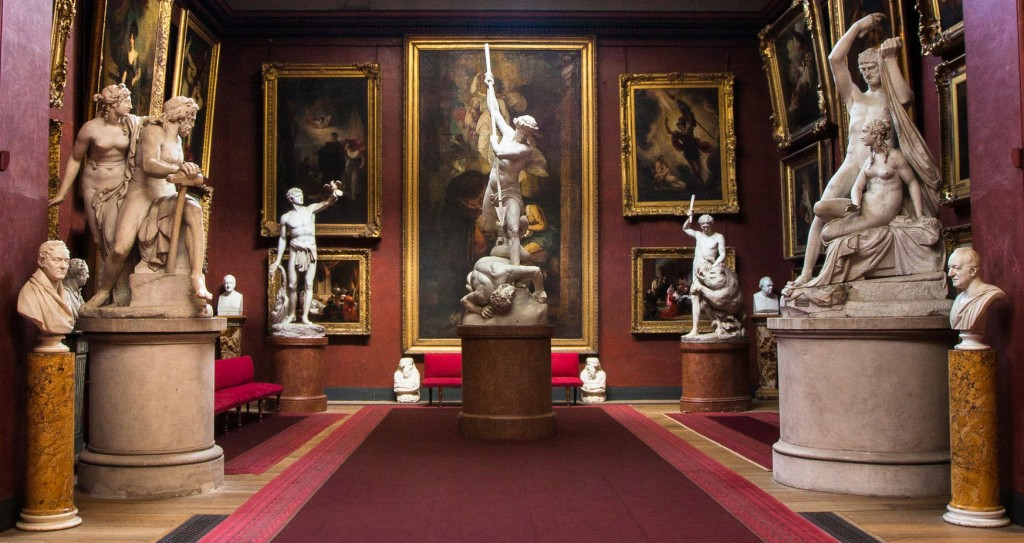 John Flaxman's famous sculpture, 'St Michael subduing Satan'