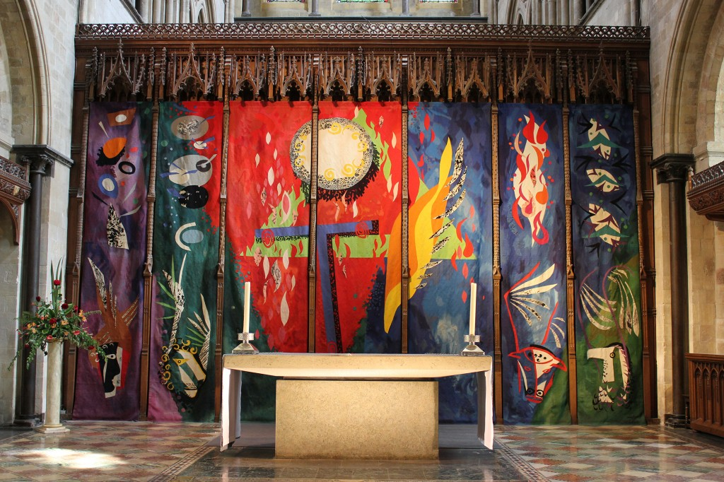 John Piper's Chichester Cathedral reredos tapestry, circa 1966