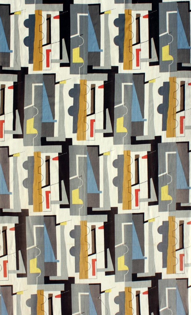 John Piper's 'Abstract' fabric © The Piper Estate