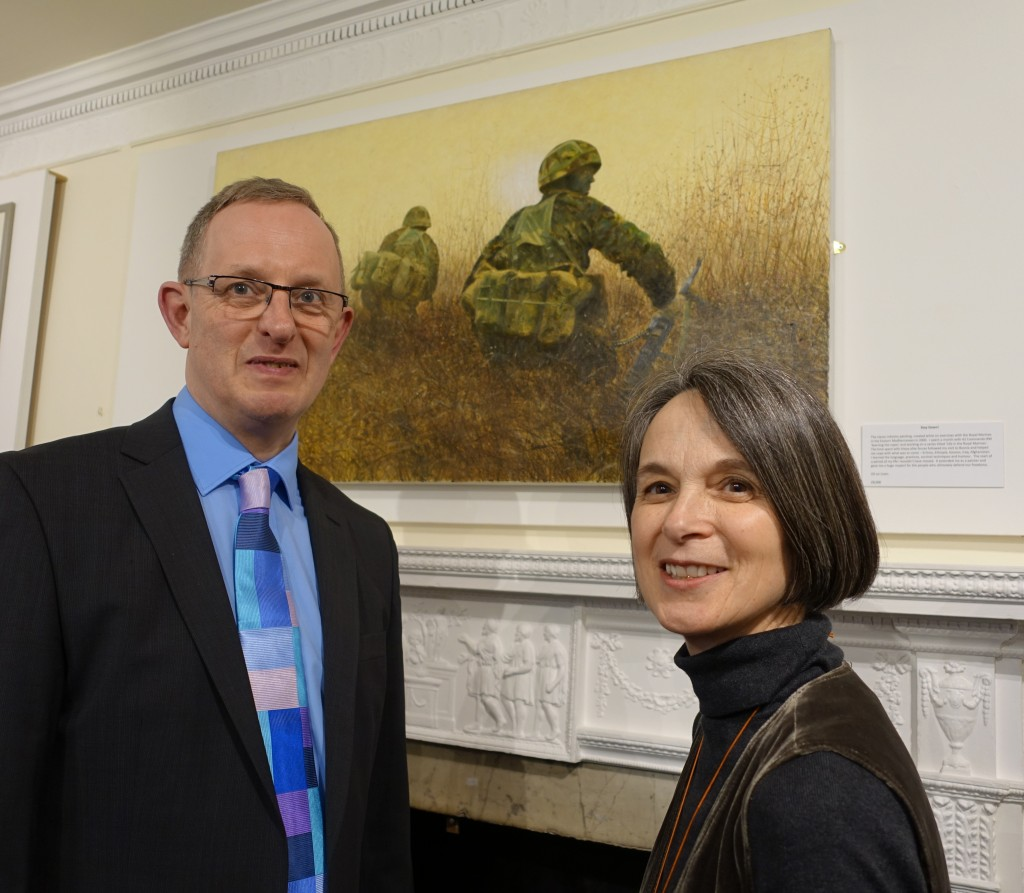 Tate Gallery Lead Curator of British Art to 1900, Alison Smith with Jeremy Knight, Curator of the Horsham Museum & Art Gallery