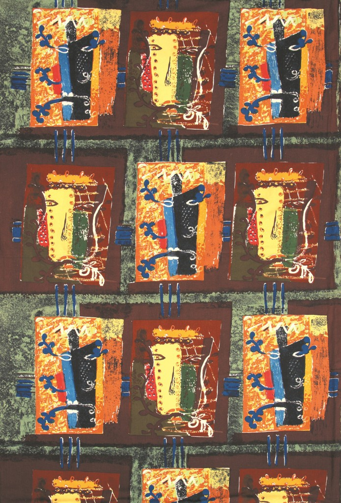 John Piper's 'Foliate Heads' fabric © The Piper Estate