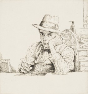 Lot 12 'Self Portrait no.18 (The Etcher II)', circa 1979