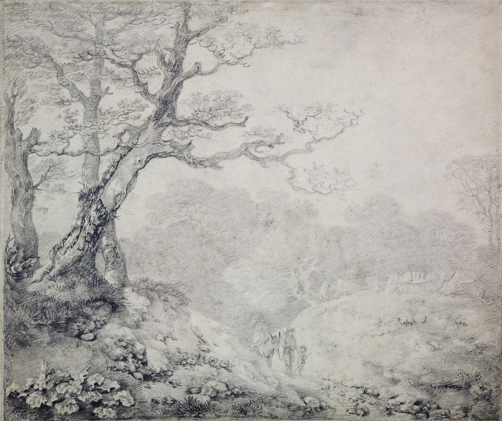 Thomas Gainsborough, 'A Suffolk Lane', 1750-60 © Pallant House Gallery