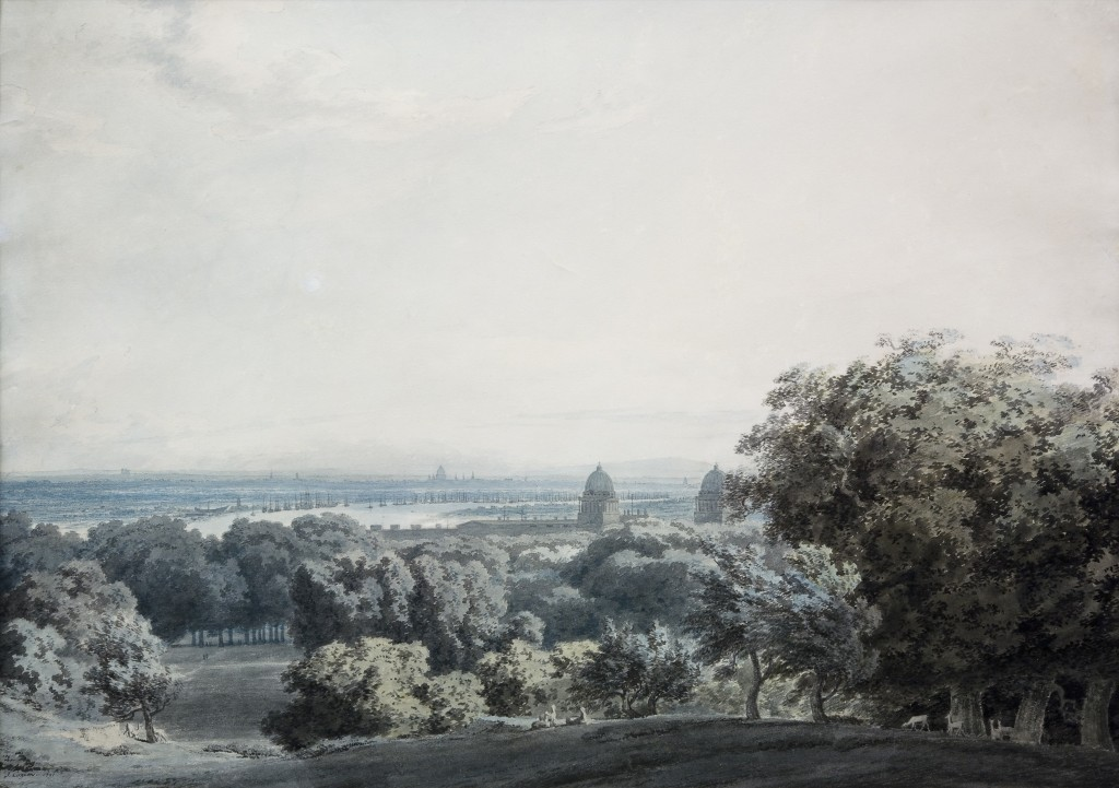 John Robert Cozens, 'View over Greenwich', 1791 © Pallant House Gallery