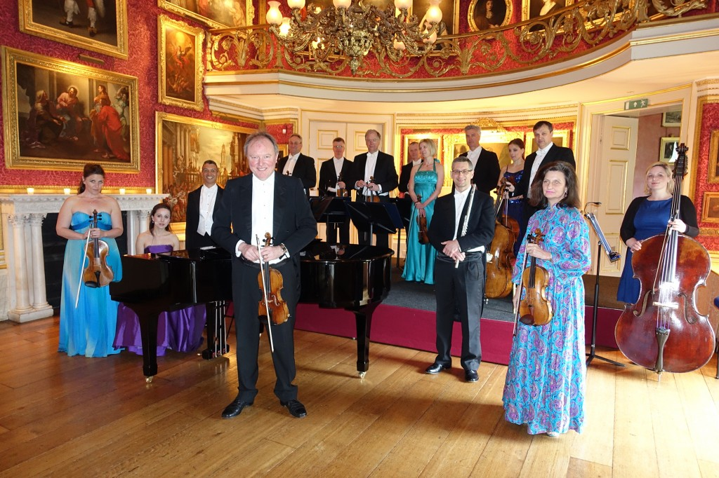 The Bernardi Music Group in the music room at Goodwood