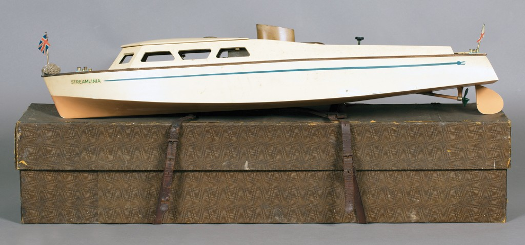 A Bassett-Lowke live steam model 'Fast Motor Boat Streamlinia'
