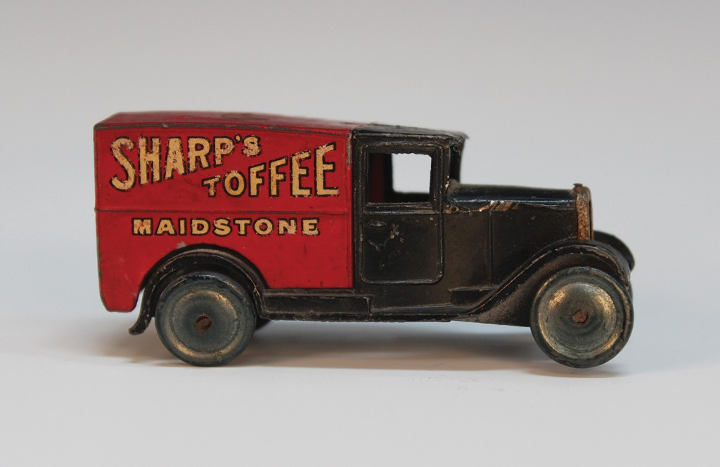 A pre-war Dinky Toys No. 28h delivery van 'Sharp's Toffee Maidstone'