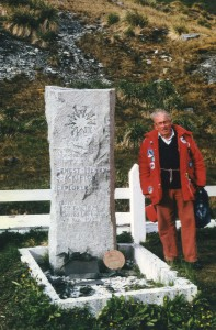 Michael at Shackletons Grave, South Georgia