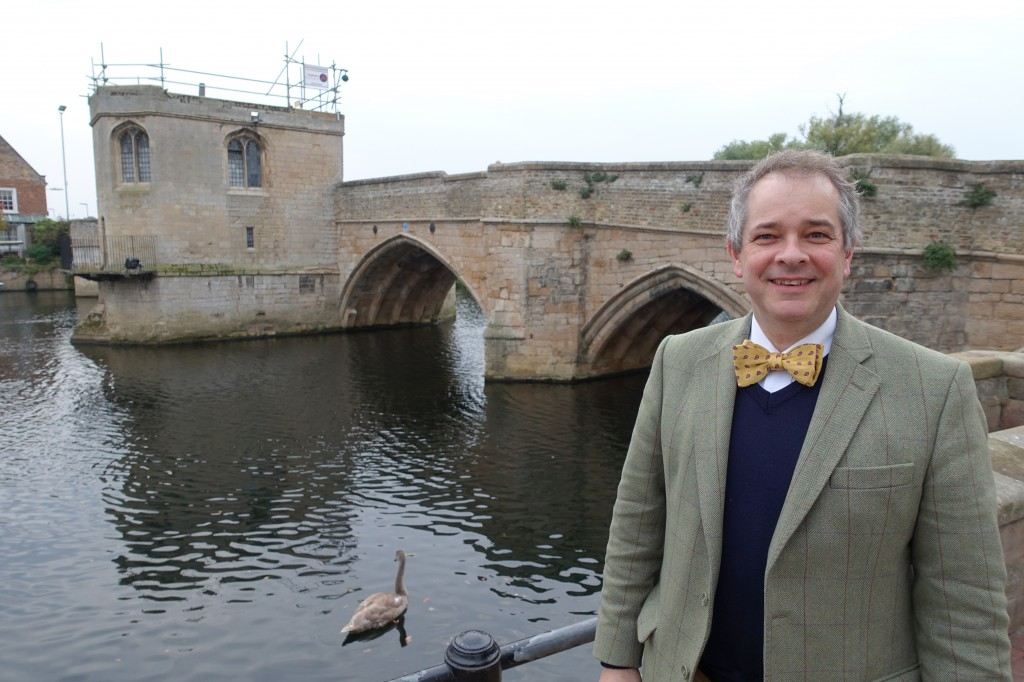 Rupert Toovey and the pilgrim's bridge at St Ives, Cambridgeshire
