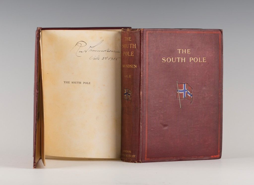 An Account of the Norwegian Antarctic Expedition, 1910-1912, signed by Roald Amundsen, estimate £700-1000