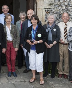 Steyning Festival Chairman, Christine Aubrey with supporters from the Festival and Steyning Parish Church © Graham Franks
