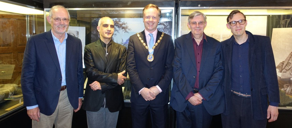 Left to right: Councillor Jonathan Chowen, Adrien Sina, HDC Chairman Christian Mitchell, Dr William Blows and Toby Tatum