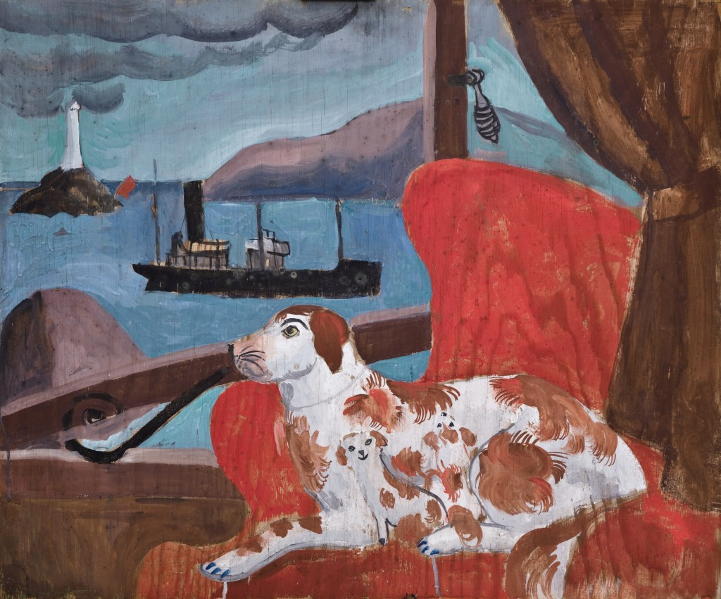 Christopher Wood, 'China Dogs in a St Ives Window, Pallant House Gallery