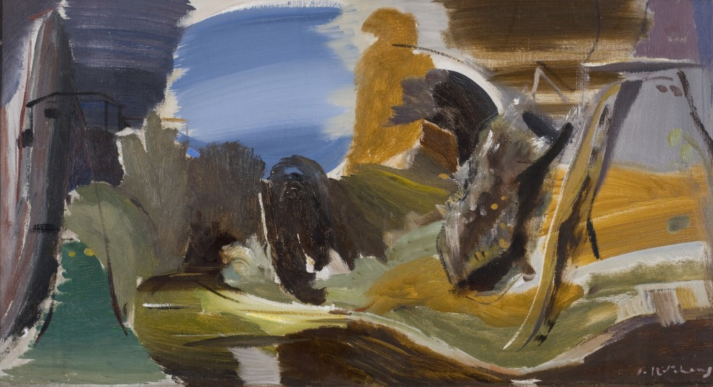 Ivon Hitchens (1893-1979), Autumn Stream, undated, oil on canvas, © Jonathan Clark Fine Art, representatives of the artist's estate, Courtesy Bishop Otter Trust, University of Chichester