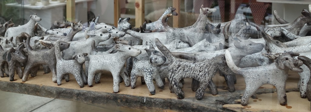Each dog is individually modelled with its own character
