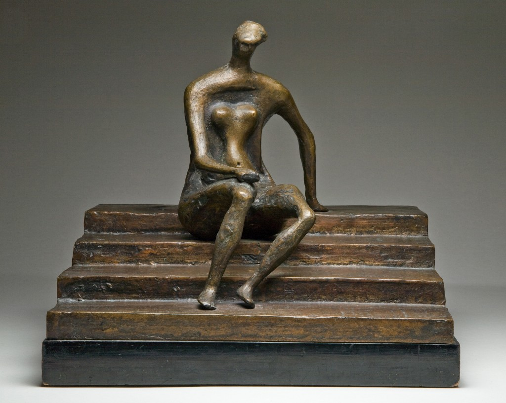 Henry Moore (1898-1986), Figure on Square Steps, c.1957, bronze, Courtesy Bishop Otter Trust, University of Chichester