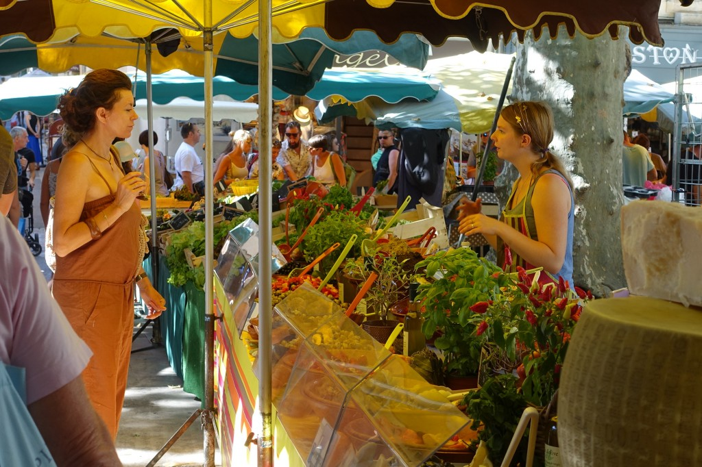 Market day in St Rémy de Provence