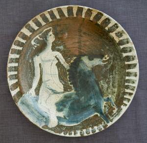 An Eric James Mellon 'Horse and Rider' dish